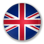 Badge with flag of United Kingdom of Great Britain — Stock Photo