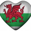 Stock Photo: Heart with flag of wales