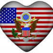 Heart with flag of united states — Foto Stock #6646428