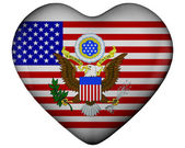 Heart with flag of united states — Stock Photo