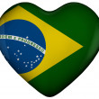 Heart with flag of brazil — Stock Photo
