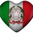 Heart with flag of italy — Stock Photo