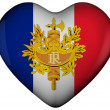 Heart with flag of france — Stock Photo