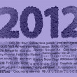 Stock Photo: 2012 New Year
