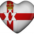 Heart with flag of northern ireland — Stock Photo