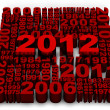 2012 new year - Stock Photo