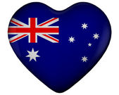Heart with flag of australia — Stock Photo