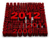 2012 new year — Stock Photo