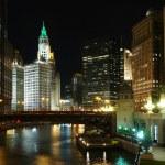 Chicago at night — Stock Photo #5932175