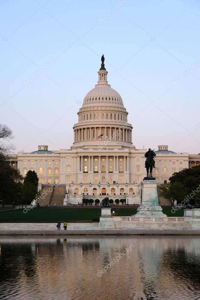 Capitol Hill at sunset, Washington DC — Stock Photo #5942546