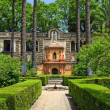 English gardens of the Alcazar Palace - Foto Stock