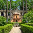 English gardens of the Alcazar Palace - Stock Photo