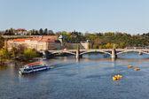 Vltava rzeka — Zdjęcie stockowe
