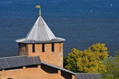 White tower of Nizhny Novgorod Kremlin — Stock Photo