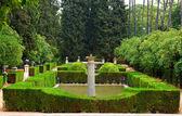 Garden in Alcazar Palace — Stock Photo
