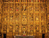 Altarpiece in the Cathedral of Seville — Stok fotoğraf