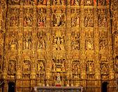 Oltář v katedrále sevilla — Stock fotografie