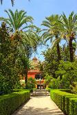 English gardens of the Alcazar Palace — Stock Photo