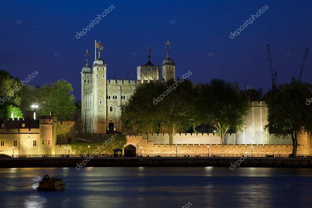 Tower of London at night  Stock Photo #5952470