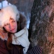 Young woman in winter outwear - Stok fotoğraf
