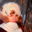 Young woman in winter outwear - 图库照片