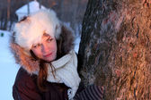 Young woman in winter outwear — Stock Photo