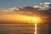 ανατολή του ηλίου, ατλαντικό ωκεανό — Φωτογραφία Αρχείου