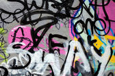 Abstract colorful graffiti background — Stock Photo