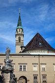Franciscan Church (Franziskanerkirche) in Salzburg — Stock Photo