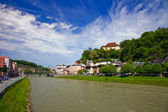 The river Salzach in Salzburg — Stock Photo