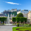 Fountain in Mirabell garden, Salzburg — Stock Photo
