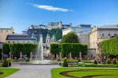 Fountain in Mirabell garden, Salzburg — Stock Photo
