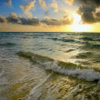 Sunrise, Atlantic ocean — Stock Photo
