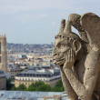 Royalty-Free Stock Photo: Chimera on Notre Dame Cathedral
