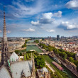 View on Paris from Notre Dame — Stock Photo