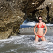 Young woman in red bikini - Foto Stock