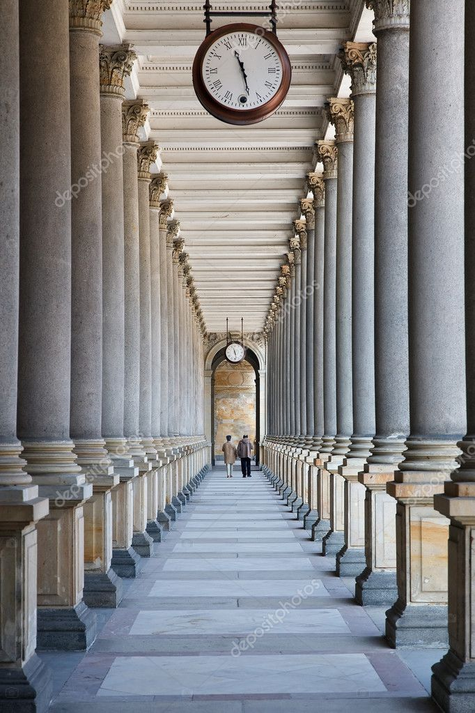 Time is passing... (colonnade in Karlovy Vary, Czech Republic) — Stock Photo #6093476