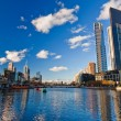 Melbourne, Skyscrapers on Yarra River — Stock Photo