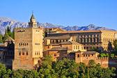 Alhambra at sunset, Granada, Spain — Stock Photo