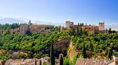 Alhambra at sunny day, Granada, Spain — Stock Photo