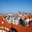 Red roofs of Old Town, Prague - Stock Photo