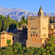 Alhambra at sunset, Granada, Spain — Stock Photo
