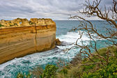 Formations rocheuses au littoral, route great ocean road — Photo