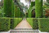 Jardín de los poetas, alcázar, sevilla — Foto de Stock