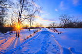 Countryside at winter, Russia — Stock Photo