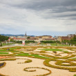 Park in Belvedere palace, Vienna — Stock Photo