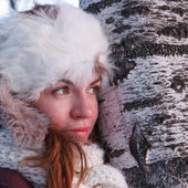 Young woman in winter outwear — Стоковое фото