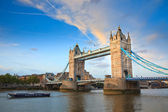 Tower Bridge from the North Bank, London — Stock Photo