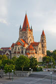 Church on Danube River, Vienna — Foto Stock