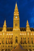 Town hall in Vienna at night — Stock Photo